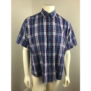 Cambridge Classics Large Button Front Shirt Plaid